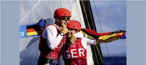 The winning team: Paul Kohlhoff und Alica Stuhlemmer (Foto© Sailing Energy)