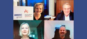 Oben: Mechthild Mösenfechtel, Thomas F. Roth, IMMAC Holding AG Unten: Monika Kaus, Swen Staack, Deutsche Alzheimer Gesellschaft e.V.